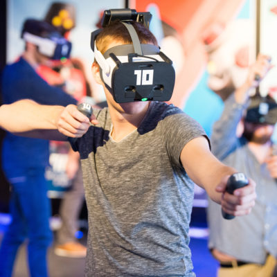 Pick up your weapons and battle your friends in free-roaming VR for location-based entertainment