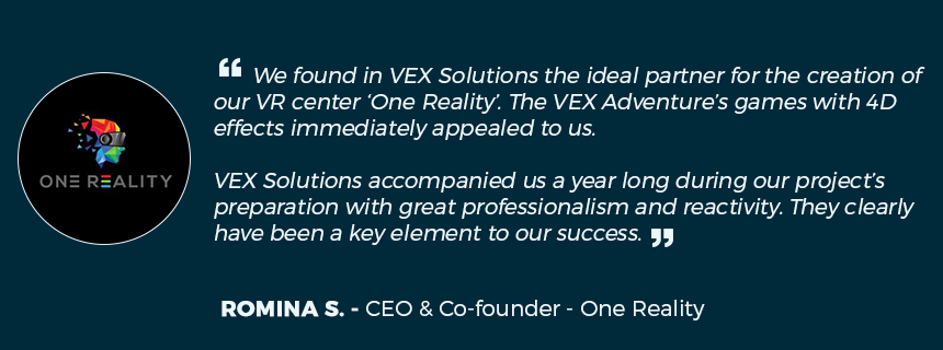 "VR center comments on VEX Solutions ""We found in VEX solutions the ideal partner for the creation of our VR center"""