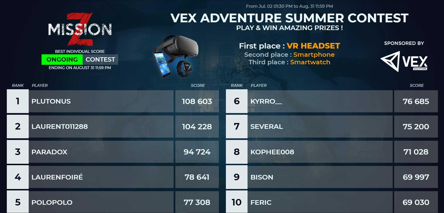 Få den højeste score på VEX Esports -konkurrencer for at vinde præmier