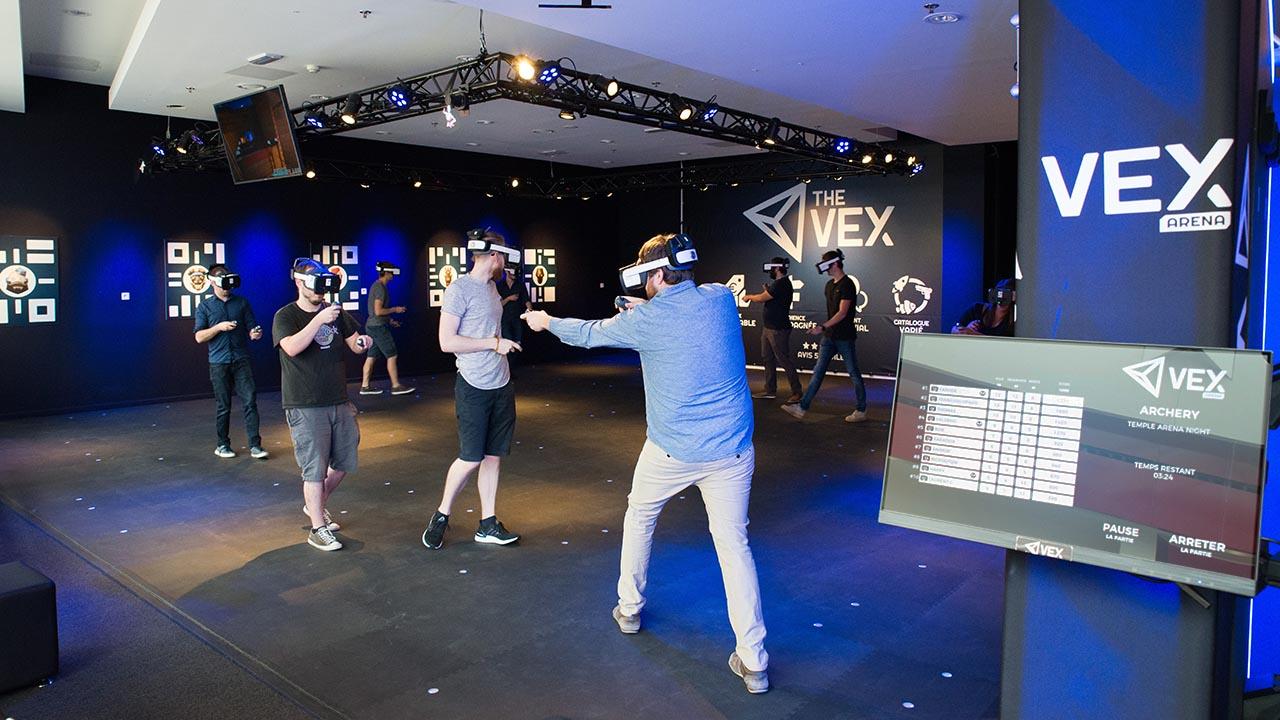 De beste doorvoer in locatiegebaseerde virtual reality